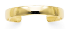 Premium Quality 10mm Solid 14k Gold Cuff Bracelet