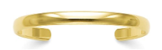 Premium Quality 6mm Solid 14k Gold Cuff Bracelet