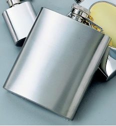 Engraved Premium Quality Brushed Stainless Steel Flask