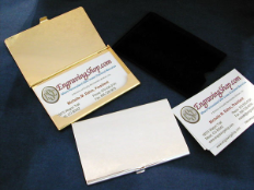 Silver Or Gold Business Card Case