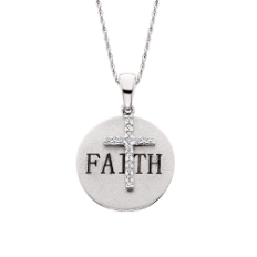 Sterling Silver Faith Pendant With Cross