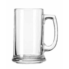 Engraved 15 Ounce Glass Beer Mug