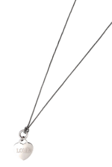Sterling Silver Heart Dangle Necklace