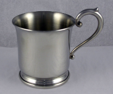 Engraved Pewter Baby Cup