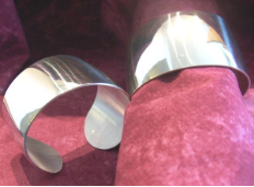 Engraved 1.5 Inch Wide Pewter Cuff Bracelet
