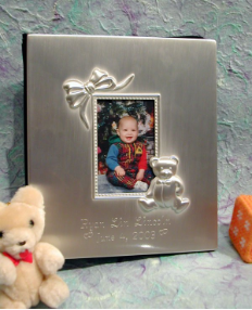 Engraved Teddy Bear And Bow Photo Album