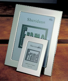 Engraved Polished Silver Picture Frame