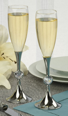 Personalized Bride and Groom Flutes