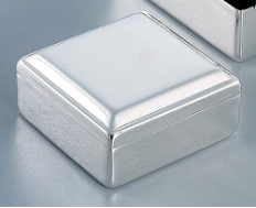 Engraved Jewelry Box - Silver