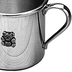 Engraved Pewter Teddy Bear Baby Cup