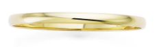 Premium Quality 5mm Solid 14k Gold Slip-On Bangle