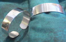 Personalized 5/8 Inch Wide Pewter Cuff Bracelet
