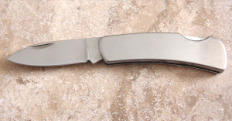 Engraved Single Blade Knife