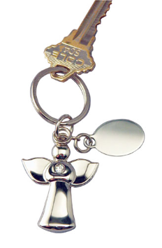 Angel Keychain Engravable