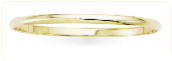 Premium Quality 4mm Solid 14k Gold Slip-On Bangle