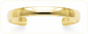 Engraved Premium Quality 8mm Solid 14k Gold Cuff Bracelet