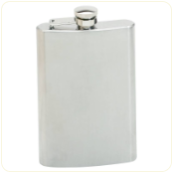 Engraved Brushed Stainless Steel Flask