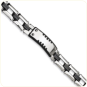 ID Bracelet for Men - Engravable Stainless Steel