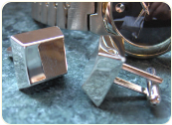 Engraved Curved Rectangular Cuff Links