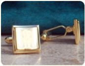 Engraved Gold Vermeil Cuff Links
