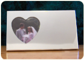 Engraved Horizontal Silver Heart Frame