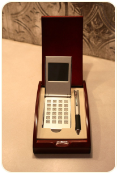 Mahogany Pen Box with Calculator