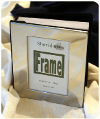 Engraved Chrome Plated Open Cover Photo Album