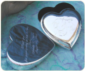 Engraved Silver Plated Heart Box