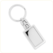 Engraved Silver-Tone Keychain