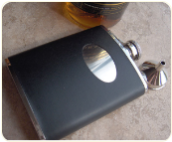 Engraved Black Flask