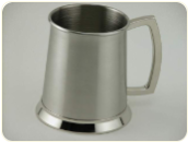 Engraved Brushed Stainless Steel Tankard, 20 oz.