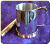 Engraved Polished Stainless Steel Tankard, 20 oz.