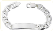 Engravable Heavy Anchor ID Bracelet for Men