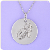 Diamond Studded Sterling Silver Initial Pendant