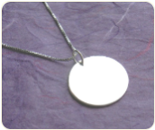 Engraved Sterling Silver Disk Necklace