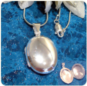 Engraved 15mm Wide Sterling Silver Oval Locket