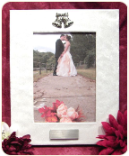 Engraved  5 x 7 Wedding Frame with Bells Icon