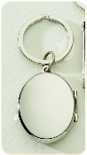 Engraved Oval Locket Key Chain