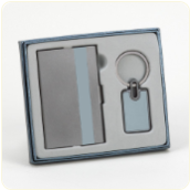 Lynnfield Business Card Case and Keychain Set
