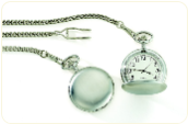 Customizable Pocket Watch - Brushed Silver