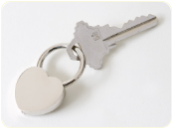 Engraved Retractable Heart Keyring