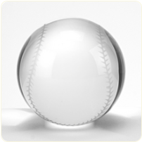Engraved Baseball Paperweight