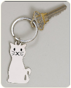 Engravable Cat Keychain