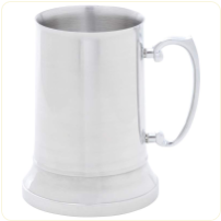 Engravable Stainless Steel Beer Stein 20 oz