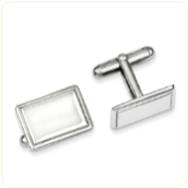 Engraved Cufflinks - Italian - Sterling Silver