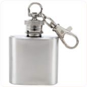 Flask Keychain Engraved 1oz