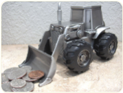 Engraved Brushed Finish Front End Loader Tractor Bank