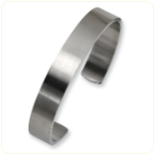 Engraved Stainless Steel Brushed Chisel Cuff Bracelet