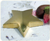 Engraved Gold Plated Star Paperweight