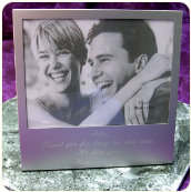 Engraved 5x7 Horizontal High Polish or Brushed Finish Photo Frame